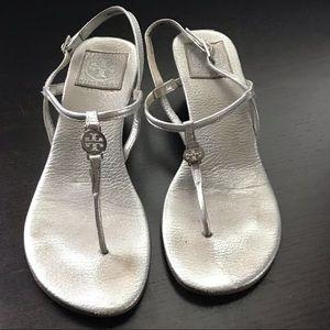 Tory Burch Silver wedge sandal